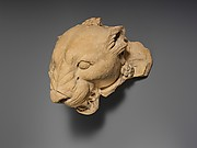 Terracotta head of a panther