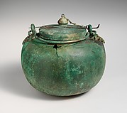 Bronze cauldron and lid
