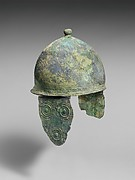 Bronze helmet with cheek-guards