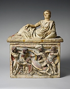 Terracotta cinerary urn
