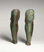 Pair of bronze greaves