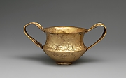 Gold kantharos (drinking cup with two high vertical handles)
