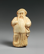 Marble statuette of a bearded man (Actor?)