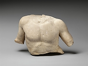 Fragmentary marble torso of a man