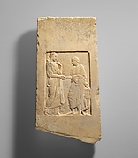 Marble fragment of a stele (grave marker) of a youth