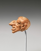 Terracotta head of a male dwarf