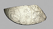 Glass bowl fragment
