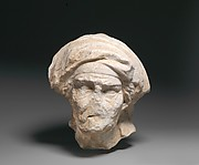 Marble head of an old woman