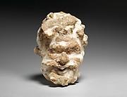 Marble head of a satyr