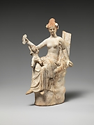 Terracotta statuette of Aphrodite and Eros
