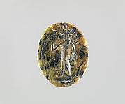 Serpentine intaglio: Radiate lion-headed god