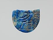 Lapis lazuli intaglio: Seated deity
