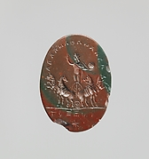 Jasper intaglio: Sol in a quadriga (four-horse chariot)