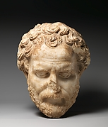 Marble head of Demosthenes