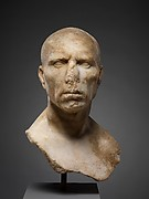 Marble portrait bust of a man
