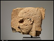 Fragment of a marble grave stele with the head of a youth