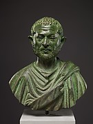 Bronze portrait bust of a man