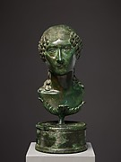 Bronze portrait bust of a Roman matron