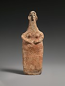 Terracotta plank-shaped figurine