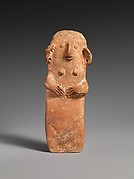 Terracotta plank-shaped figurine