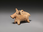 Terracotta boar figurine