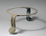 Bronze handles and rim of a cauldron