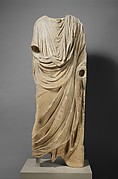 Marble statue of a togatus (man wearing a toga)