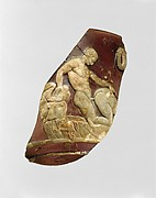 Glass cameo cup fragment