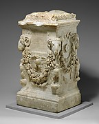 Marble funerary altar