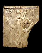 Marble relief with Hermes