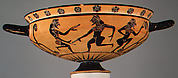 Terracotta kylix: Komast cup (drinking cup)