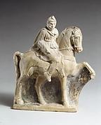 Terracotta statuette of a horseman