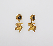 Earring with pendants of birds