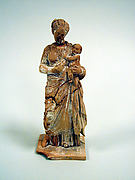 Statuette of a woman with infant
