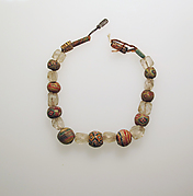Glass and rock crystal beads