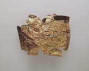 Plaque, thin gold leaf
