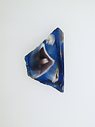 Glass mosaic ribbed bowl fragment