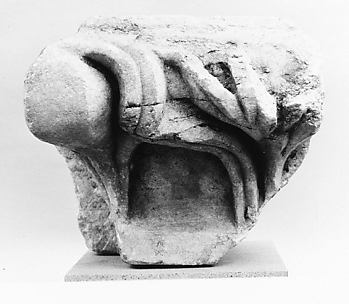 Marble fragment of an anta (pilaster) capital from the Temple of Artemis at Sardis