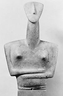 Upper part of a marble female figure