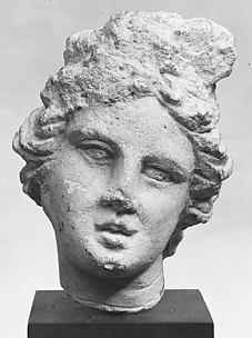 Limestone head of a girl