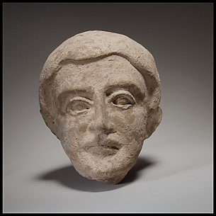 Terracotta head of a boy