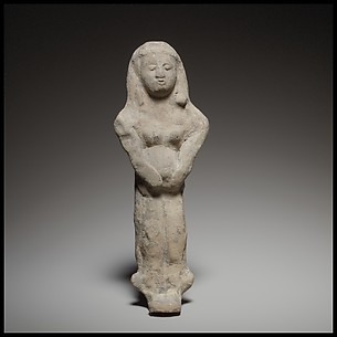 Standing female figurine