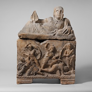 Alabaster cinerary urn