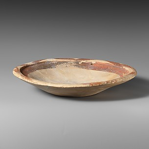 Terracotta shallow bowl