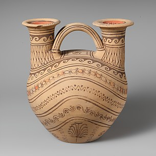 Terracotta askos (flask) with two spouts