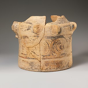 Terracotta bridge-spouted jar