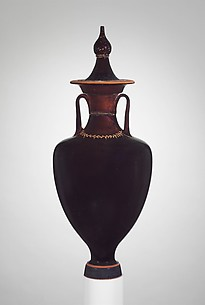 Terracotta amphora with lid (jar)