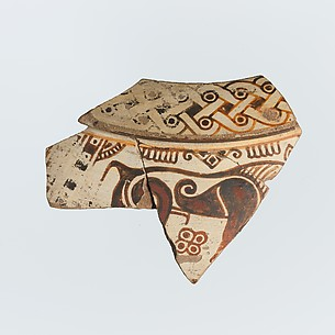 Fragment of a terracotta dinos (deep round-bottomed bowl)