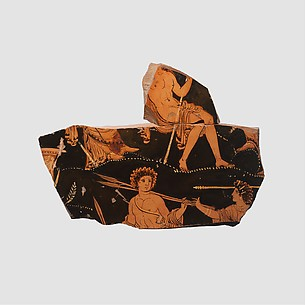 Fragment of a terrracotta volute-krater (bowl for mixing wine and water)