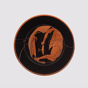 Fragments of a terracotta kylix (drinking cup)